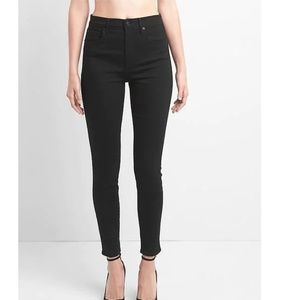 NWT Gap High Rise Skinny Jeans 28 Everblack c564
